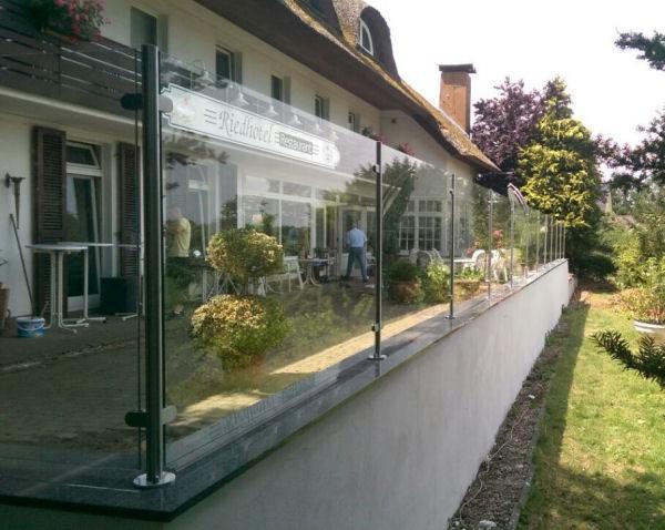 runder edelstahl pfosten 42 mm zum einbetonieren zur befestigung von glasz unen glas. Black Bedroom Furniture Sets. Home Design Ideas