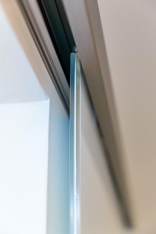 komplettes schiebet r system aus aluminium mit softclose 2 4 m etg. Black Bedroom Furniture Sets. Home Design Ideas