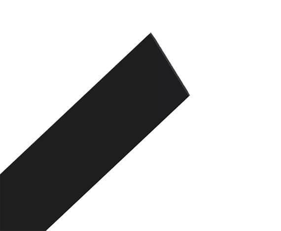 Flaches Kunststoffprofil in schwarz zum aufkleben auf Glasscheiben