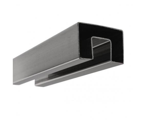 Stabiler Edelstahl Handlauf für 21,52 mm Glasstärke