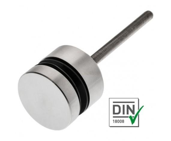 Edelstahlpunkthalter 70er Durchmesser zur vorgesetzten Montage mit einstellbaren Wandabstand