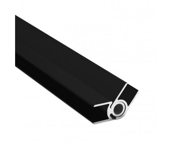 Flex-Eck-H-Profil-128° 10 mm - Schwarz