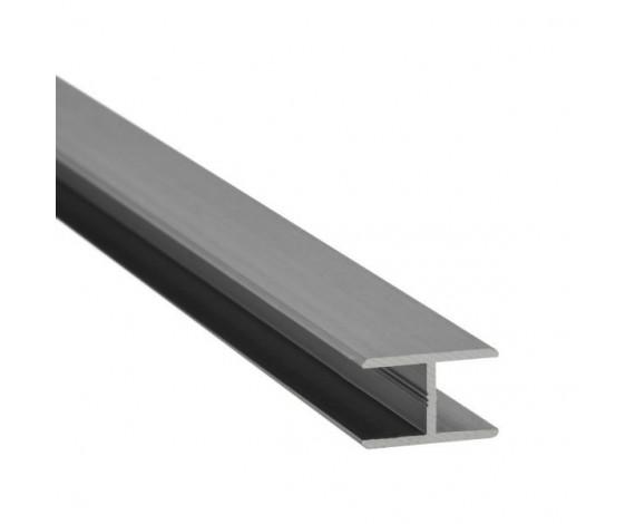 H-Profil zur Verbindung von zwei Glasscheiben von vorne