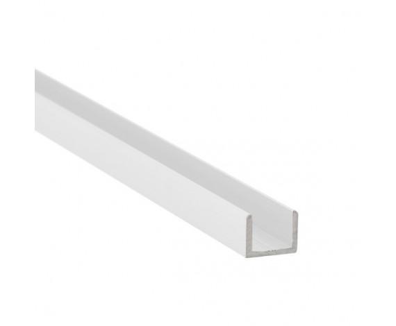 U-Profil aus Aluminium für Glasstärke 8 mm