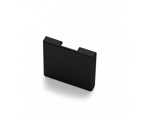 Passende Endkappe für das Glasklemmprofil Mini zum aufklipsen - Schwarz