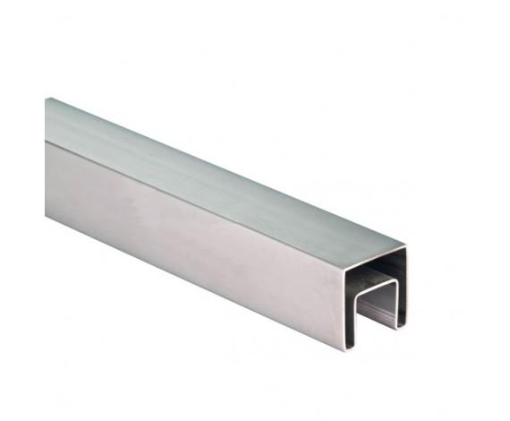 Stabiler Edelstahl Handlauf für 17,52 mm Glasstärke verwendbar