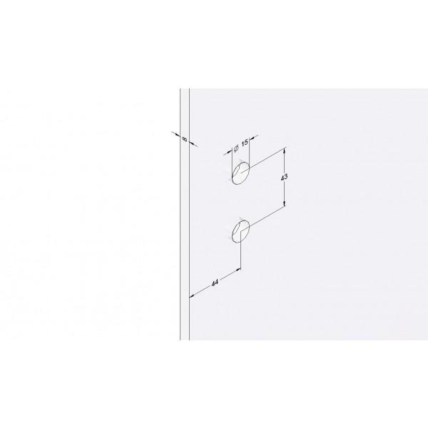 Wandbefestigung für das Scharnier der Glas-Duschtür, Bild 3