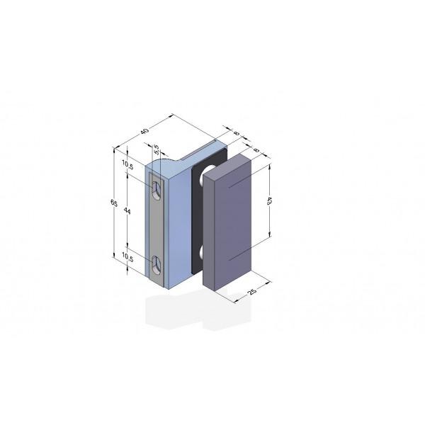 Winkelverbindung zwischen Glas und Wand Serie Angular, Bild 4