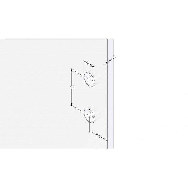 Winkelverbinder Glas-Wand 90° 1100L-11L - Angular, Bild 4