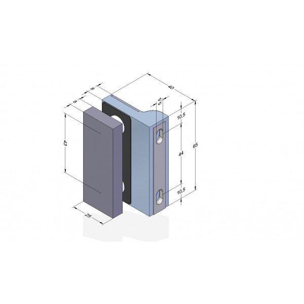 Winkelverbinder Glas-Wand 90° 1100L-11L - Angular, Bild 3