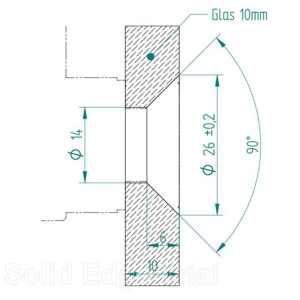 Winkelverbinder Glas-Wand 90° 8500E-3FB, Bild 2
