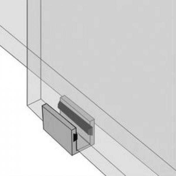 innen liegendes Gummi schützt das Glas der Schiebetür, Bild 2