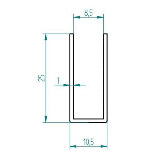 Profil für die Glasaufnahme von Glas bei Duschabtrennungen, Bild 3