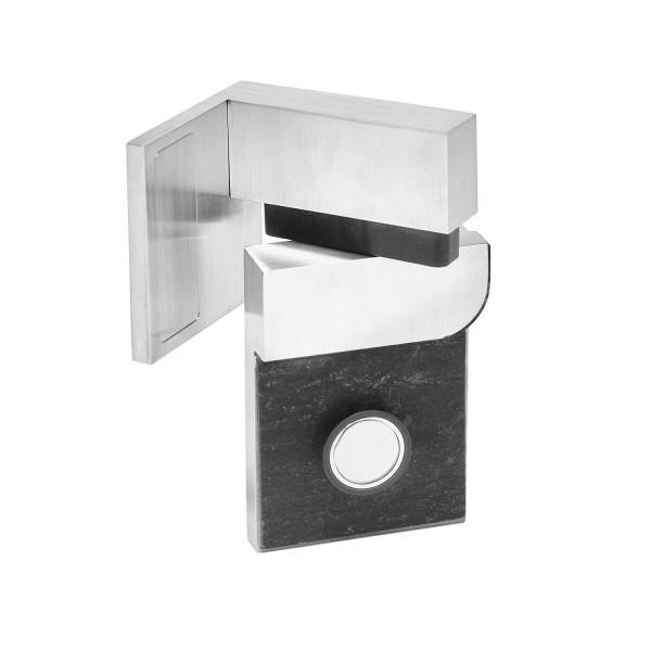 Scharnier-Paar Glas-Wand 90° links matt gebürstet, Bild 2
