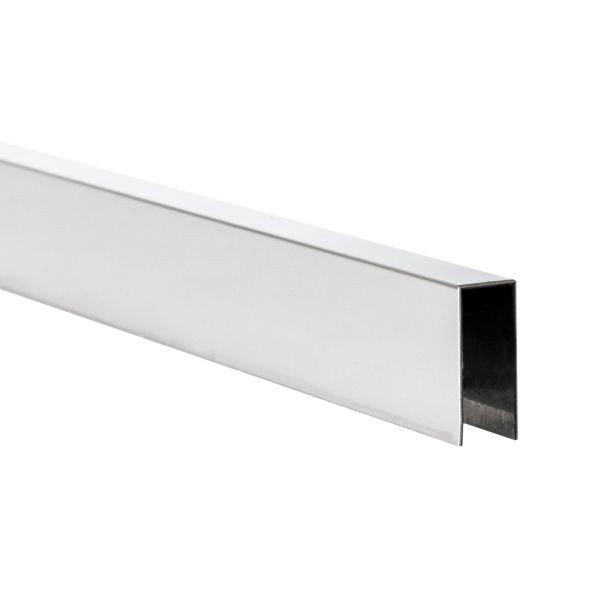 U-Profil innen 8,5 mm | Hochglanz | 4 m