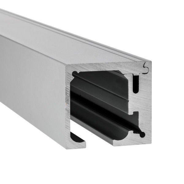 Laufschiene 1-flügelig | bis 4 m | Wandmontage | Aluminium eloxiert