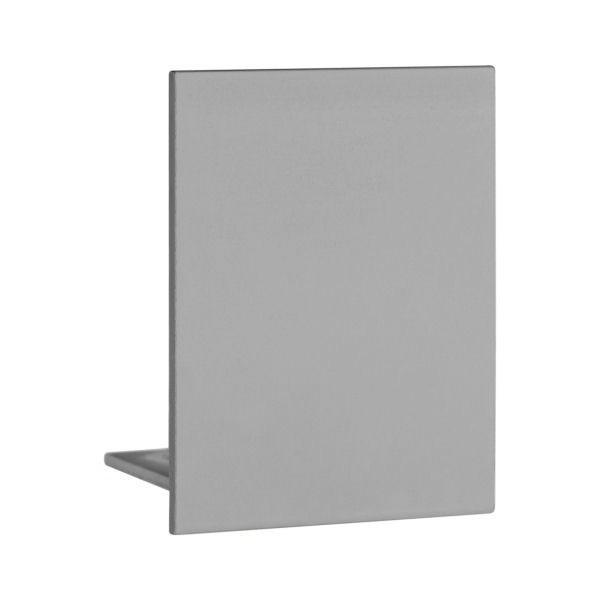 Endkappe aus Aluminium in Edelstahloptik