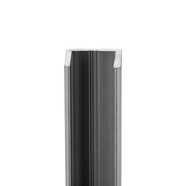 U-Profil aus Aluminium für Glasstärke 8 mm, Bild 2