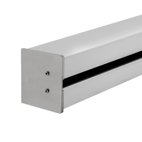 Wandklemmprofil rechtwinklig für 17,52 mm SentryGlas eckige Abdeckung Aluminium Länge bis 5.000 mm