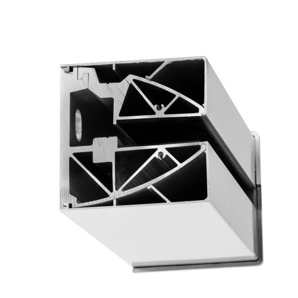 Wandklemmprofil rechtwinklig für 17,52 mm SentryGlas eckige Abdeckung Aluminium Länge bis 5.000 mm, Bild 2