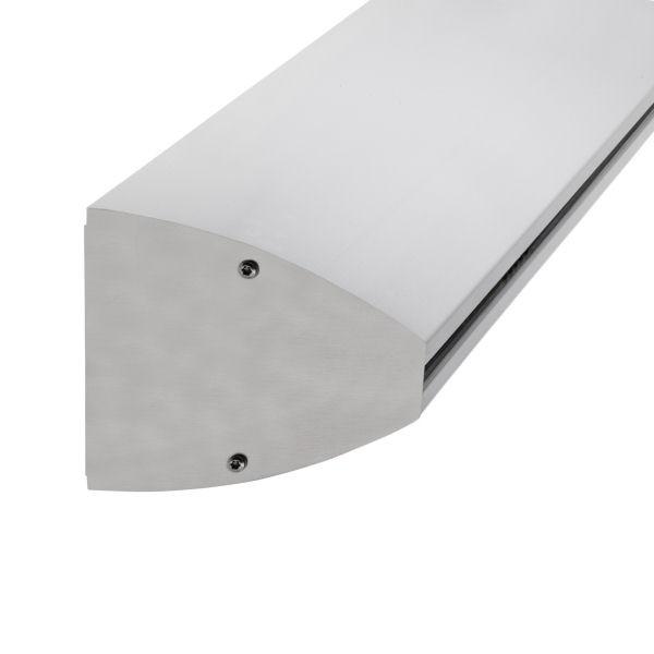 Wandklemmprofil rechtwinklig ovale Abdeckung Aluminium bis 5.000 mm