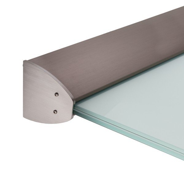 edle Optik mit Abdeckung in Aluminium Edelstahleffekt (E6/C31)