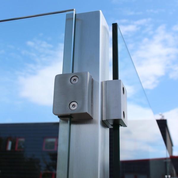 Eck-Pfosten System V Glasstärke 8 - 12,76 mm zum Einbetonieren