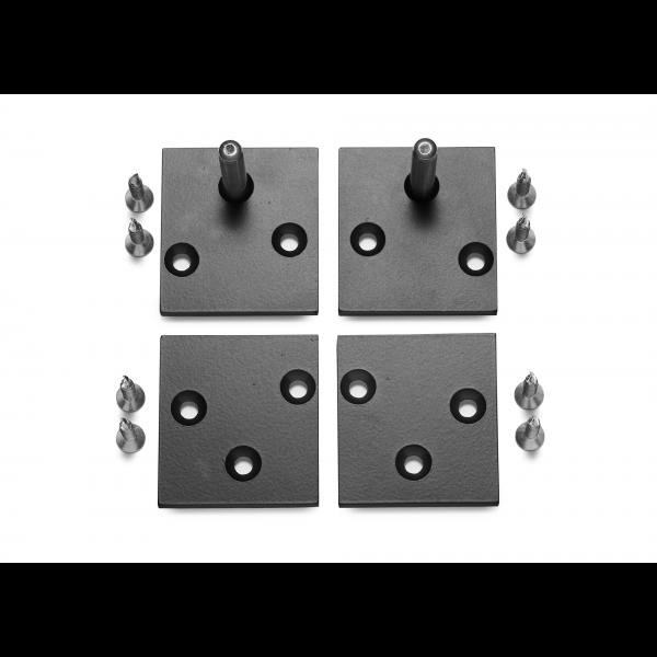 Endkappen-Set für Französischen Balkon schwarz