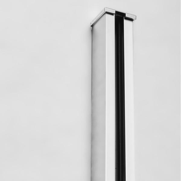 """Klemmprofil """"MINI"""" für Glastrennwände für 8 + 10 mm Glasstärke, Glanzpoliert, Bild 2"""