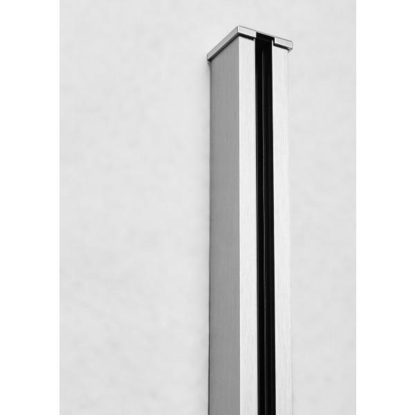 Endkappe für Glastrennwandprofil Mini 10 mm Edelstahloptik, Bild 2