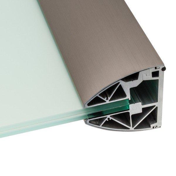 edle Optik mit Abdeckung in Aluminium Edelstahleffekt (E6/C31), Bild 2