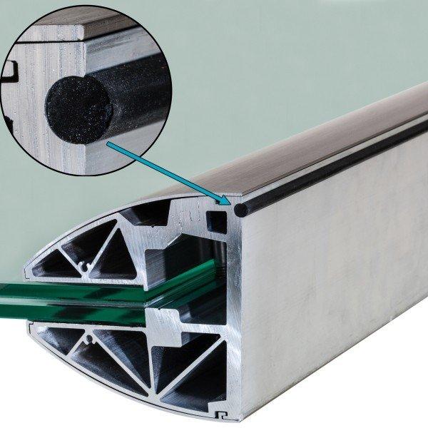 edle Optik mit Abdeckung in Aluminium Edelstahleffekt (E6/C31), Bild 4