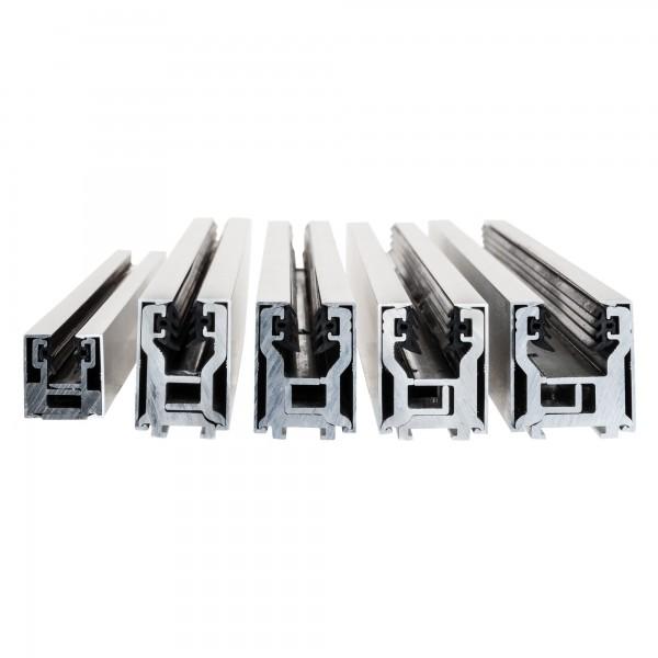 """Klemmprofil """"MINI-E"""" als Abschluss für Glastrennwände f. 8 + 10 mm Glasstärke, Edelstahloptik, Bild 7"""