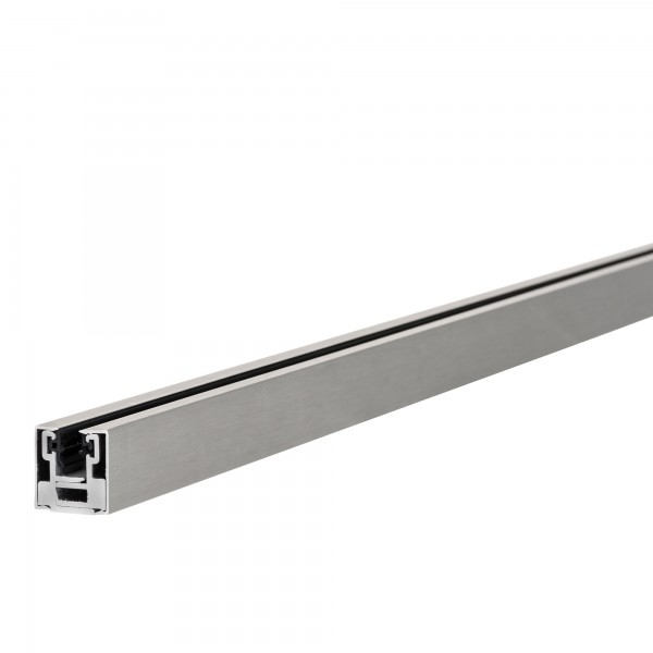 """Klemmprofil """"MINI-E"""" als Abschluss für Glastrennwände f. 8 + 10 mm Glasstärke, Edelstahloptik, Bild 4"""