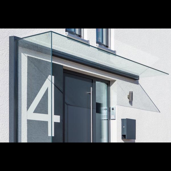 Profilsystem für Vordach und Seitenwindschutz mit Verbindung über 90° - Fixhöhe 2.400 mm, Bild 2