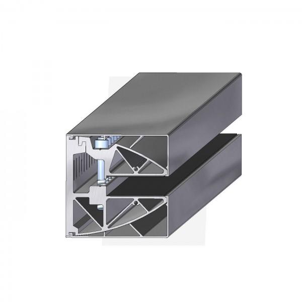 Wandklemmprofil rechtwinklig für 21,52 mm SentryGlas eckige Abdeckung Aluminium bis 5.000 mm Länge , Bild 2