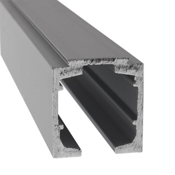 aluminium laufschiene zur deckenmontage f r 1 fl gelige. Black Bedroom Furniture Sets. Home Design Ideas