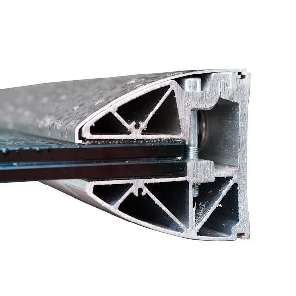 Wandklemmprofil rechtwinklig für 17,52 mm SentryGlas ovale Abdeckung Aluminium bis 5.000 mm, Bild 2