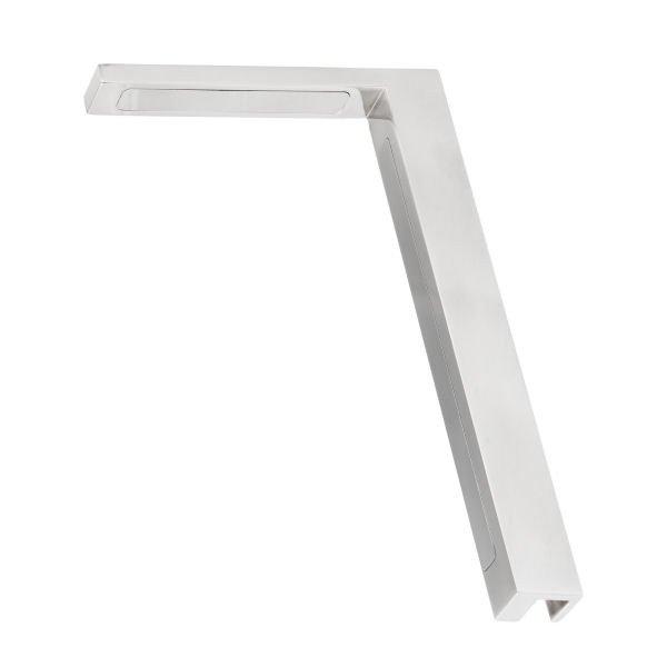 Stabilisierungswinkel 90° links für Glas-Duschen matt