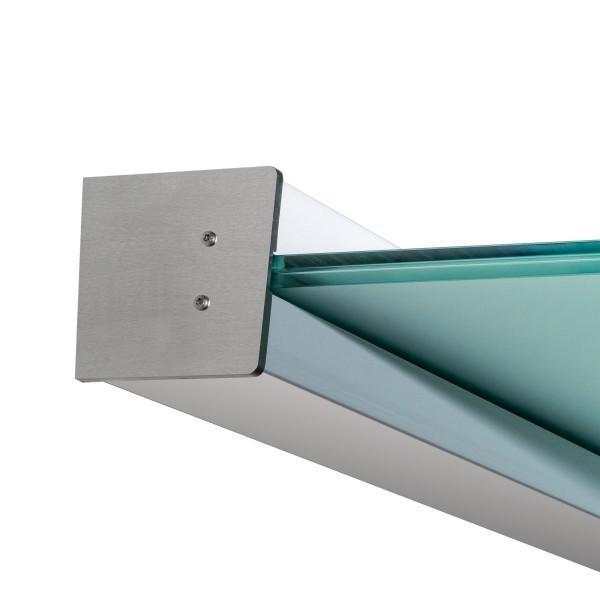 für das Wandklemmprofil ist SentryGlas in der Stärke 17,52 mm vorgeschrieben