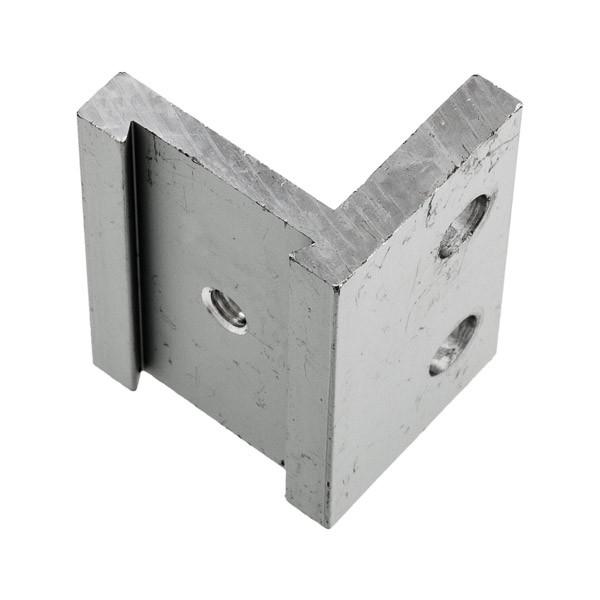Befestigungsset besteht aus Edelstahl-Winkel, Schrauben und Dübeln, Bild 3