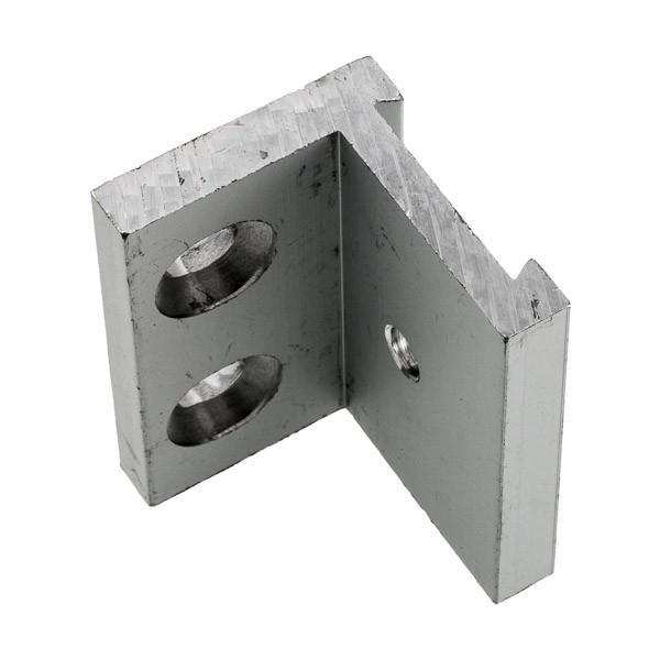 Befestigungsset besteht aus Edelstahl-Winkel, Schrauben und Dübeln, Bild 4