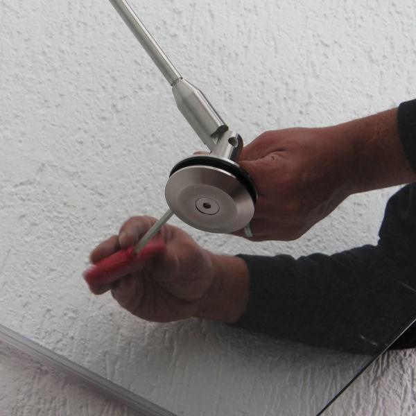 Zugstab rund für Glas-Vordach, Bild 5