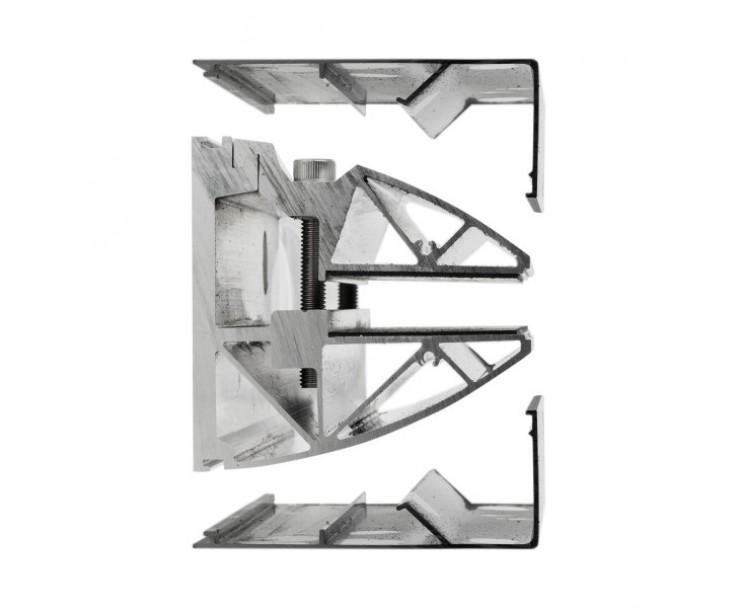 Wandklemmprofil 0° 17,52 mm, eckig - Edelstahloptik, Bild 4