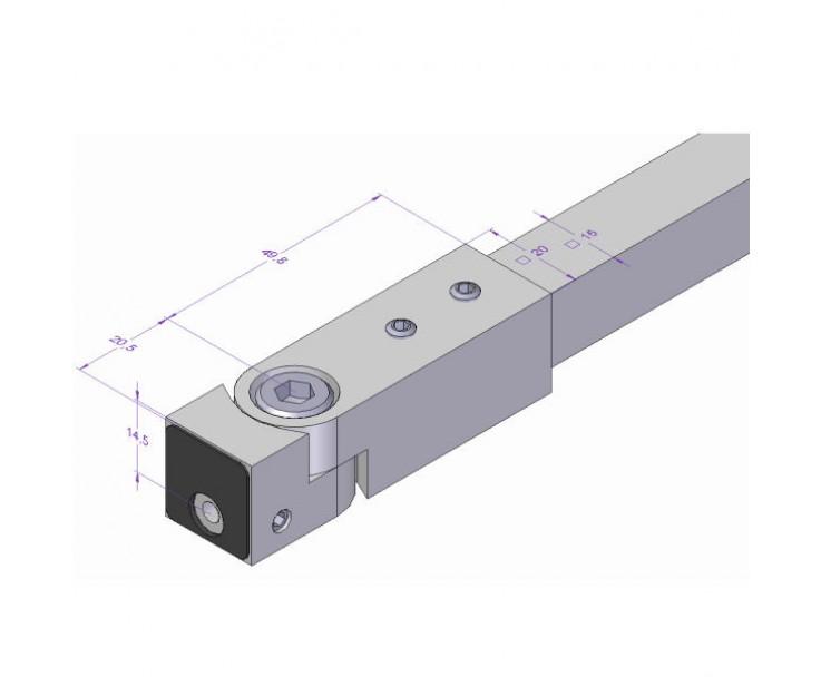 Wandmuffe für Stabilisationsstange 1200A-15HG - Angular, Bild 2