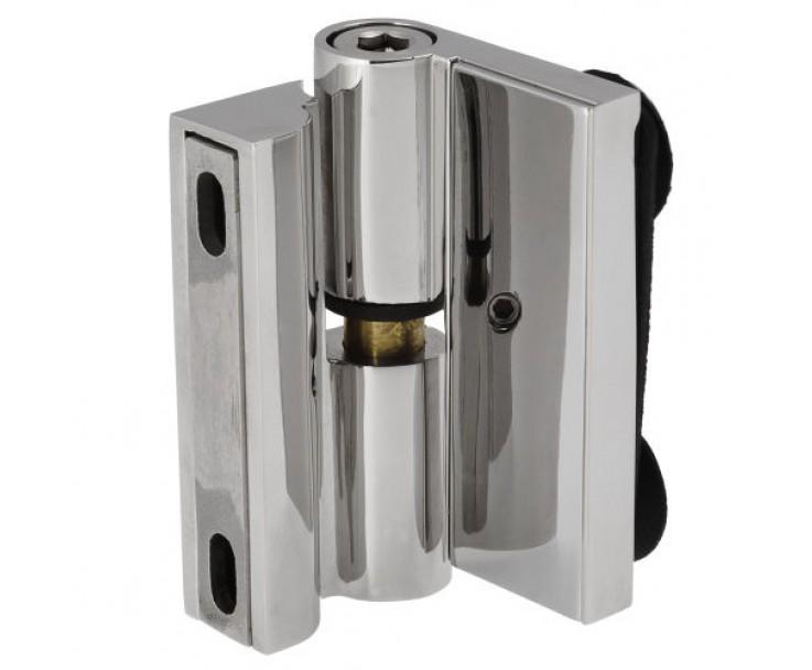 Scharnier-Verbindung Glas-Wand 90° Linksanschlag - Hebe-Senk-Funktion, Bild 2