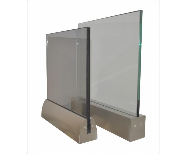 Klemmprofil eckig für Glasstärke 12,76 mm, Bild 2