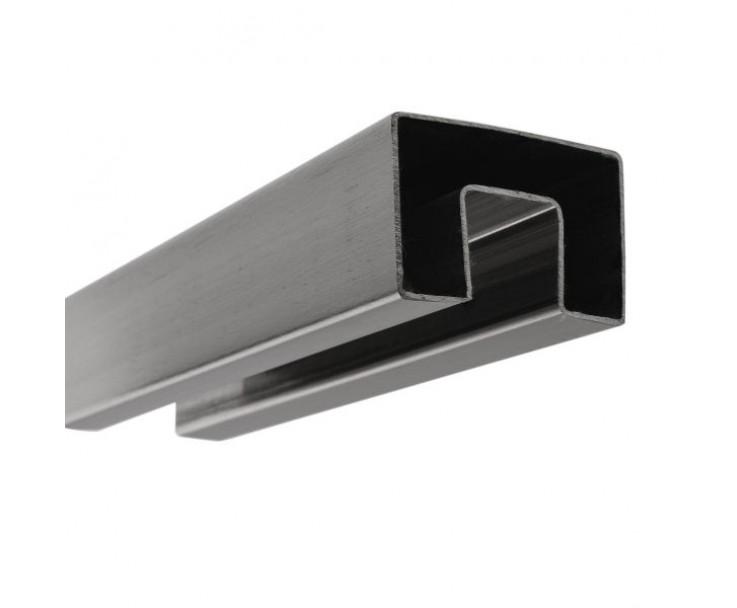 Stabiler Edelstahl Handlauf für 17,52 mm Glasstärke