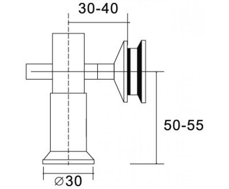 flächenbündiger Glas-Wand Verbinder 8500E-20, Bild 2