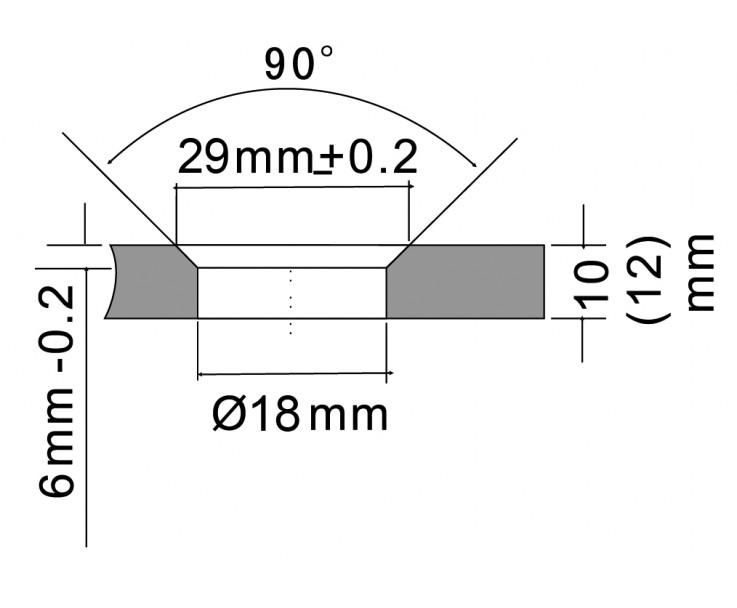 flächenbündiger Glas-Wand Verbinder 8500E-20, Bild 3